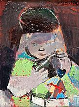 Rajmund Kanelba (1897 - 1960) Girl with Teddy Bear