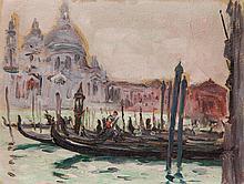 """Leon Kowalski (1870 - 1937) Santa Maria della Salute in Venice - from the """"Italia"""" series"""