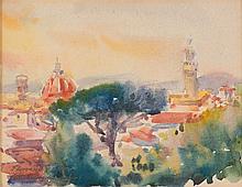 Antoni Chrzanowski (1905 - 2000) Landscape from Florence, 1965