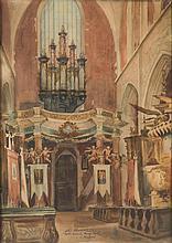 "Antoni Chrzanowski (1905 - 2000) ""Interior of Corpus Christi Church in Krakow"", 1946"