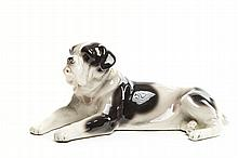 Figurine - Bulldog, 1921-1929; Faience Manufacture in Pacykow, Galicia, now Ukraine