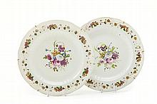 A pair of plates, Second Half of 19th Century; Gardner Porcelain Factory, Moscow