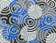 Antonio Asis (b. 1932) Interférences en gris et bleu (No. 637), 1964