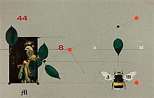 Kazimierz Mikulski (1918 - 1998) Composition with an insect II