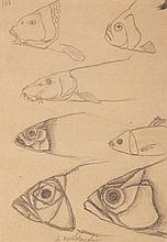 Andrzej Wroblewski (1927 - 1957) [Fish no.161] on the reverse [Insect - sketch, Composition no.161]