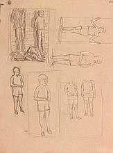 Andrzej Wroblewski (1927 - 1957) [sketch for Executions no.1498] on the reverse [Nude no.1498], 1949