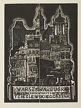 """Tadeusz Cieslewski (syn) (1895 - 1944) """"Warszawa - Puck"""", 1933"""