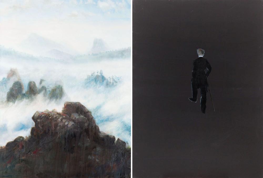 "Norman Leto (b. 1980) ""Landszaft - Friedrich"" - diptych, 2020"