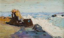 Abraham (Adolf) Behrmann (1876 - 1943) Rocky coast
