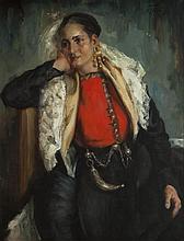 Alexander Tolstoj (1895 - 1969) Portrait of woman
