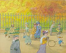 Zbigniew Lengren (1919 - 2003) In the park, book illustration