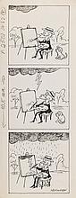 "Zbigniew Lengren (1919 - 2003) ""Filutek"", comic strip for the magazine ""Przekroj"" no. 24 (13 VI), 1993"