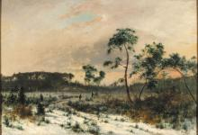 Adam Malinowski (1829 - 1892), At the Edge of the Forest, 1878