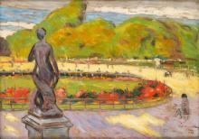 """Leon Kowalski (1870 - 1937), The Luxembourg Gardens (""""Paryz""""), 1908"""