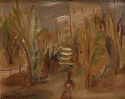 Leon Weissberg, Wieczorem w ogrodzie, około 1928 r.