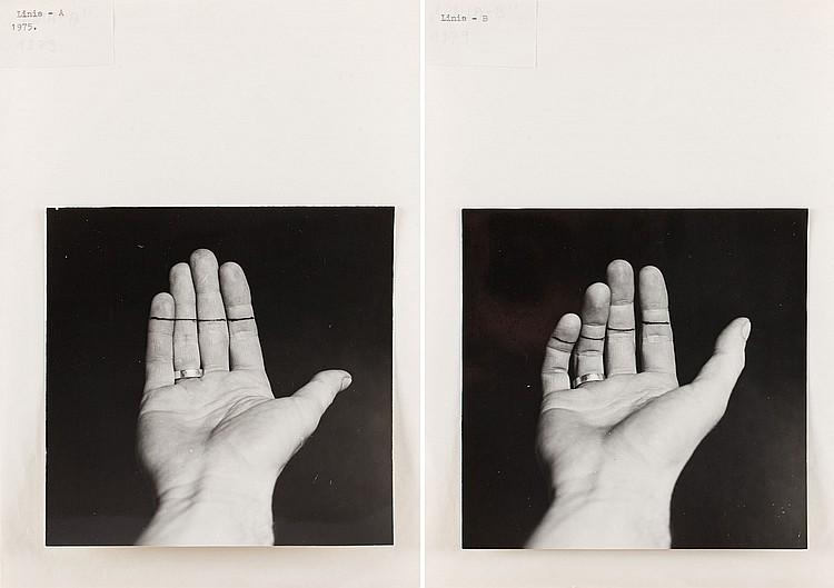 Pawel Kwiek (b. 1951) 'Lines' - diptych, 1975