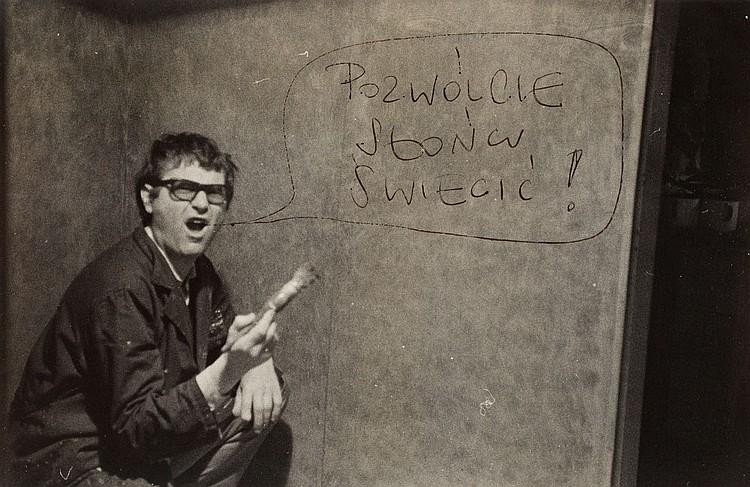 Zdzislaw Beksinski (1929 - 2005) Self-portrait with the letter to Andrzej Urbanowicz, circa 1970