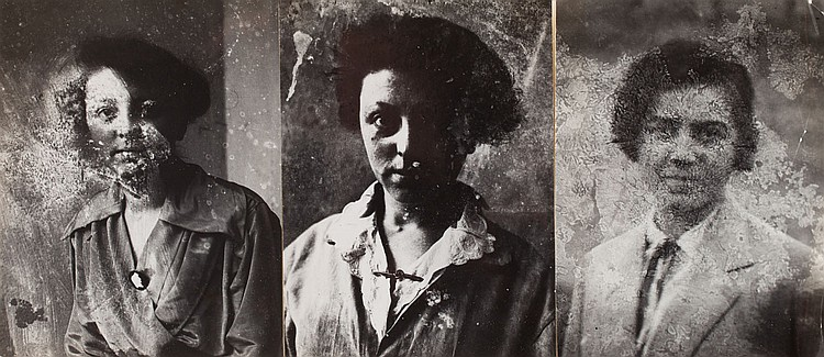 Jerzy Lewczynski (1924 - 2014) 'Triptych Found in The Attic'
