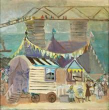 Rajmund Kanelba (Kanelbaum), (1897 - 1960), 'Street Fair in London', 1949