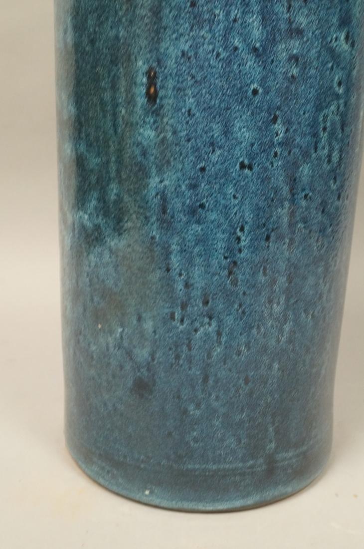 Tall Oversized Blue Glazed Ceramic Floor Vase Mo