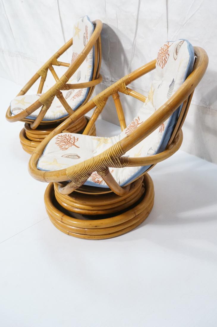 PR BAMBOO MIAMI MODERN PAPASAN CHAIRS ROUND HOOP
