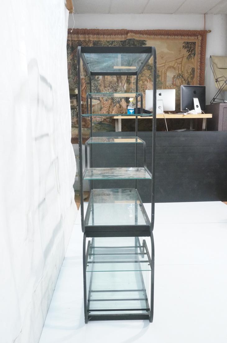 Milo Baughman Style Etagere Display Shelf Unit E