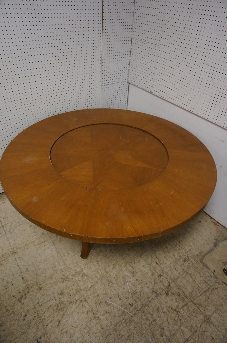 Lg Decorative Game Dining Table W Lazy Susan Cent