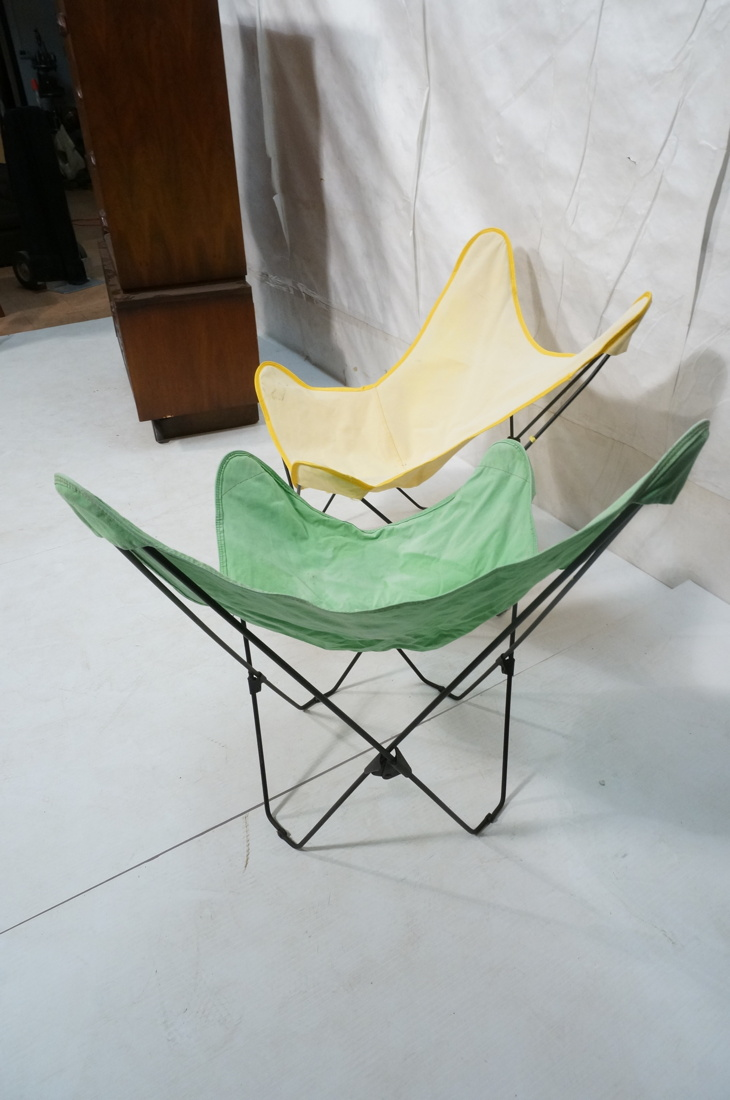 PR FOLDING IRON BUTTERFLY CHAIRS CANVAS SLING SEA