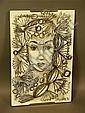 SASCHA BRASTOFF Ceramic Plaque. PORTRAIT OF Art D, Sascha Brastoff, Click for value