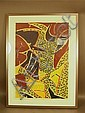 Set 4 Sam Maitin Wood Block Prints.  Series of 4., Sam Maitin, Click for value