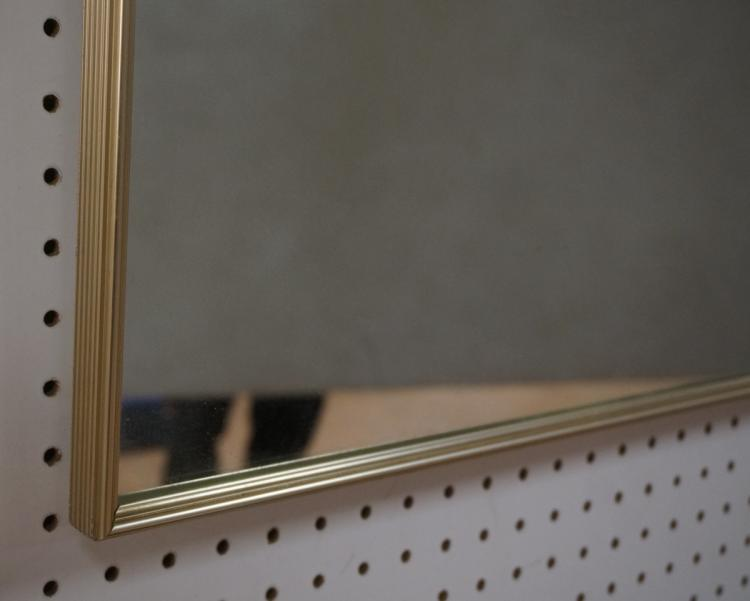 Large mid century wall mirror thin metal frame for Thin wall mirror