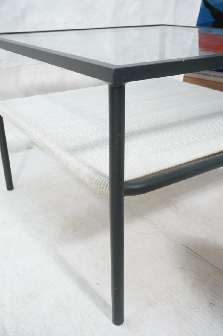 Brown Jordan Metal Frame 2 Tier Coffee Table Ins