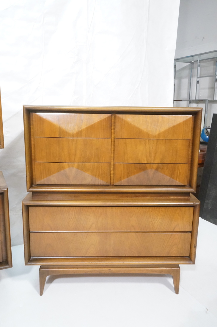 3pc american modern walnut bedroom set united di for American walnut bedroom furniture uk