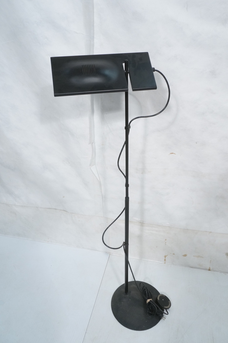 Italiana Luce Modernist Black Metal Floor Lamp I