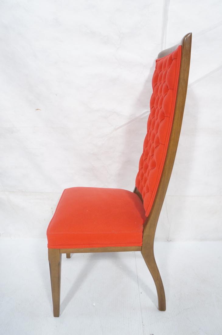 4 tufted red velvet tall back dining side chairs. Black Bedroom Furniture Sets. Home Design Ideas