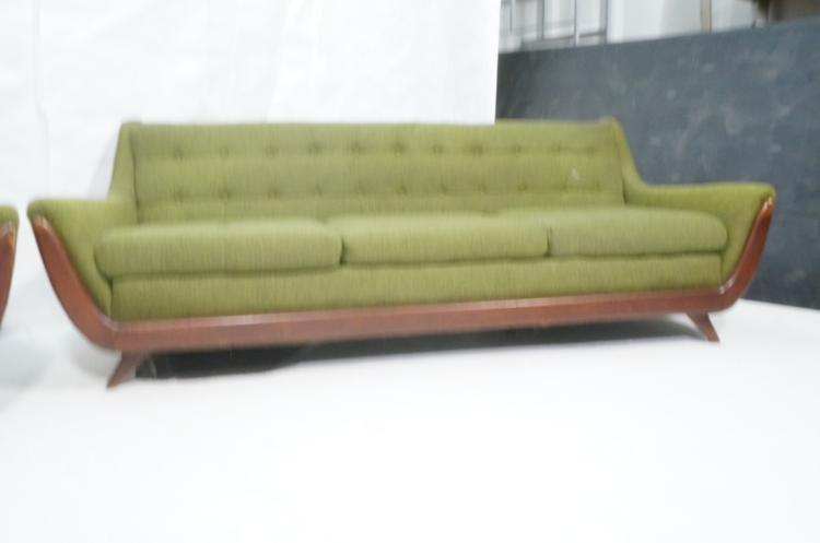 2pc adrian pearsall style green sofa love seat. Black Bedroom Furniture Sets. Home Design Ideas