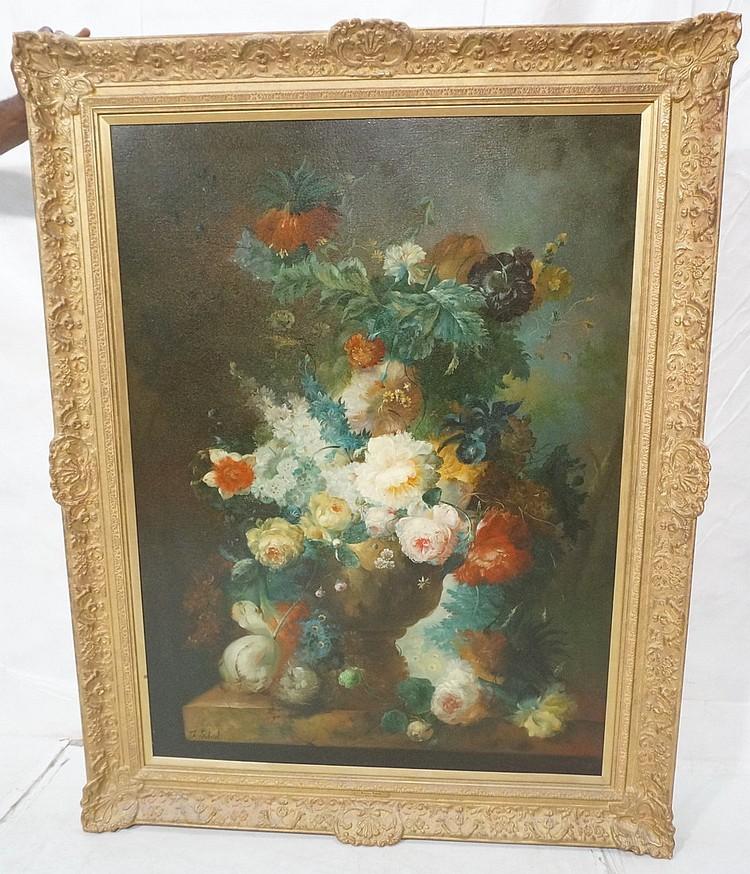 FRANCIS GABRIEL 1893-1993 Oil Painting Floral Sti