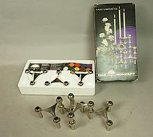 Rare NAGEL Stainless Stacking Candlesticks. Origi