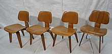 4pc Early CHARLES EAMES Molded Plywood DCW Chairs