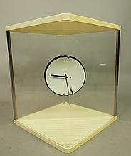 Modernist Mystery Clock. Round Clock Appears to b