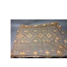ANTIQUE OPEN HANDMADE LACE BEDSPREAD AND SINGLE P