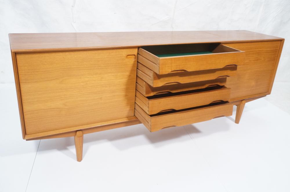 Danish Modern Credenza Sideboard : Stylish danish modern teak credenza sideboard