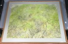 LEE WEISS MODERNIST ABSTRACT WATERCOLOR PAINTING.