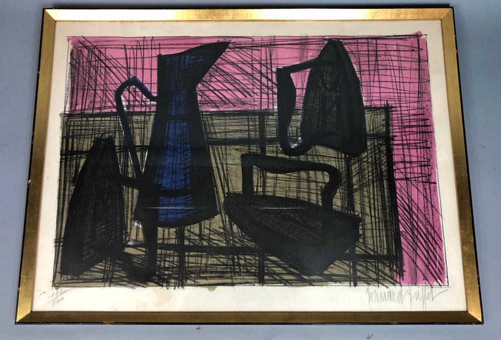 Fantastic Bernard Buffet Modernist Still Life Litho Print W Home Interior And Landscaping Spoatsignezvosmurscom