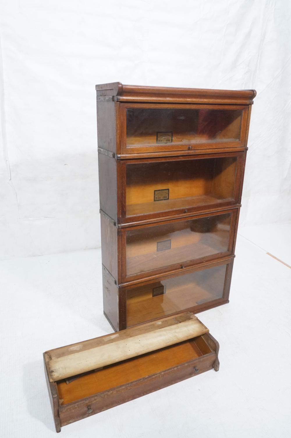 Globe Wernicke Oak 4 Stack Barrister Bookcase Ba