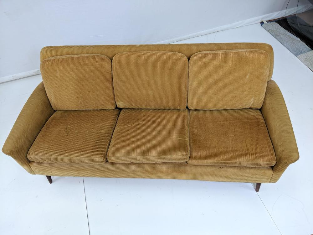 Incredible Dux Modernist Sofa Couch Light Brown Corduroy Fa Creativecarmelina Interior Chair Design Creativecarmelinacom