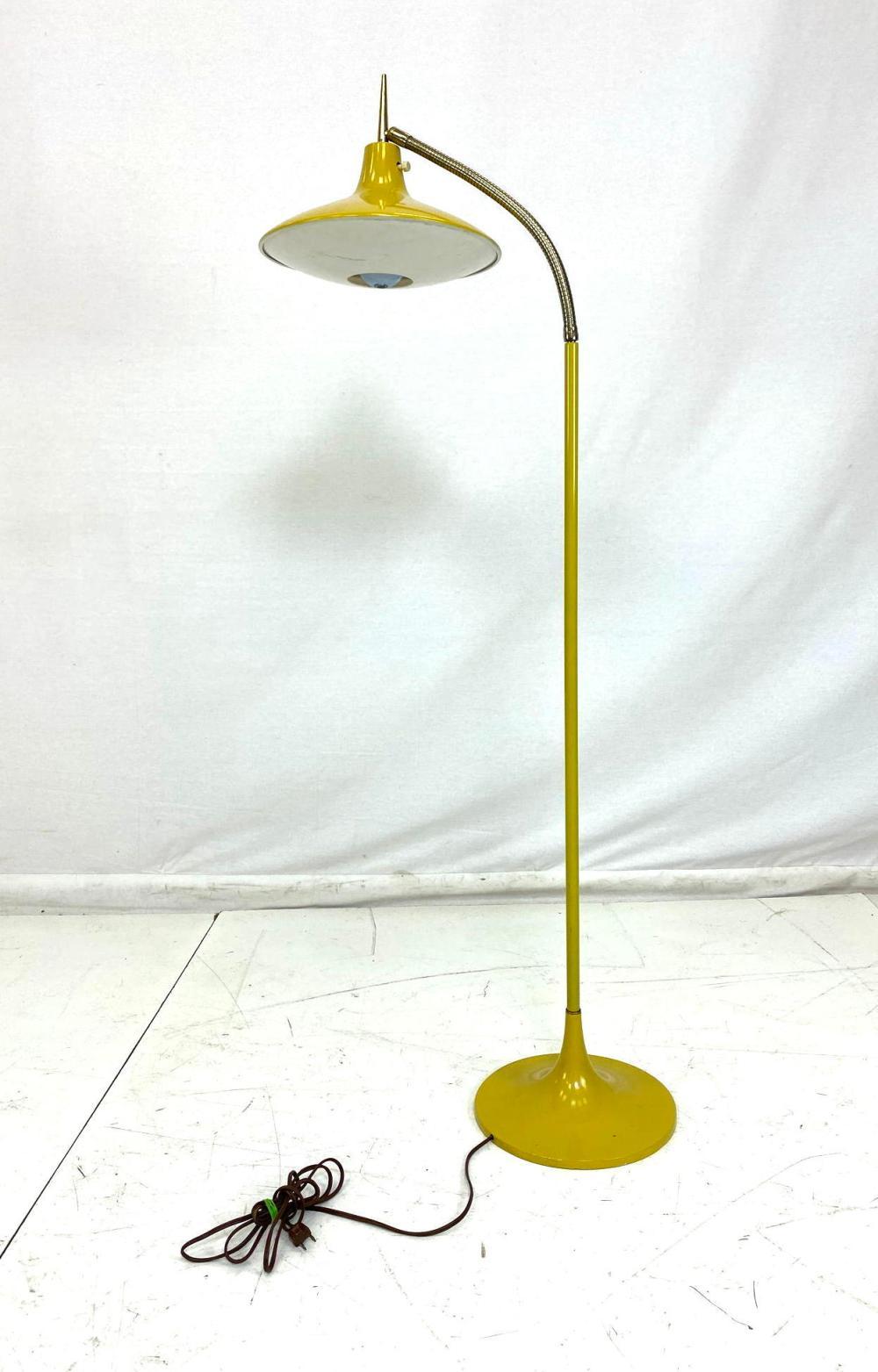 Sold Price Laurel Yellow Enamel Brass Gooseneck Floor Lamp October 2 0119 11 00 Am Edt