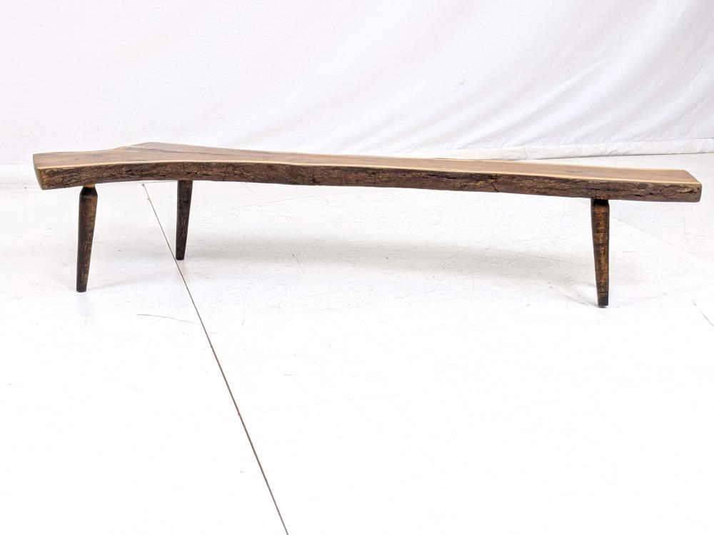 Amazing Small Live Edge Natural Wood Slab Low Bench Wood Inzonedesignstudio Interior Chair Design Inzonedesignstudiocom