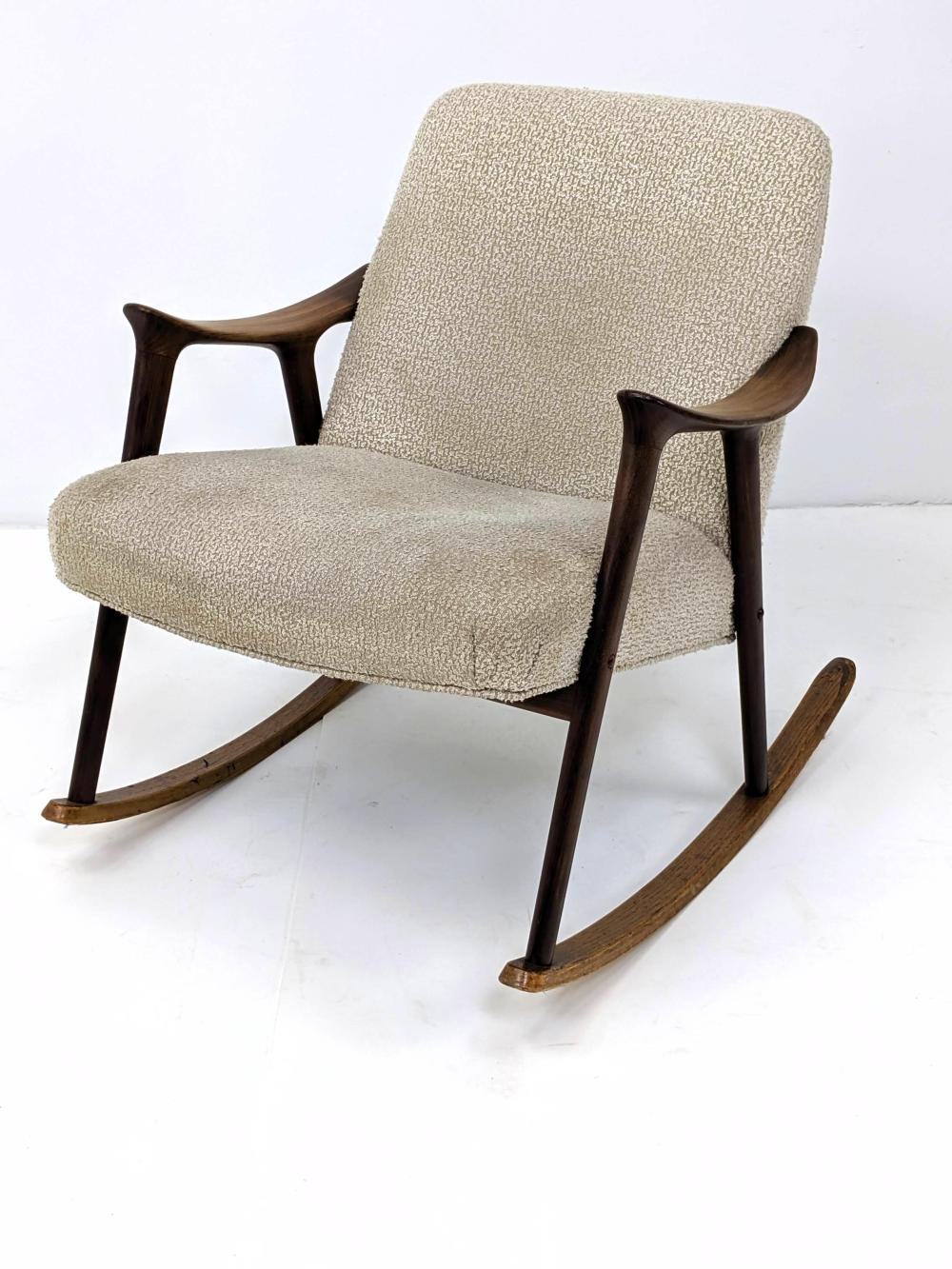 Sold Price Danish Modern Rocker Rocking Chair Wide Sloped Arm For December 2 0119 11 00 Am Est