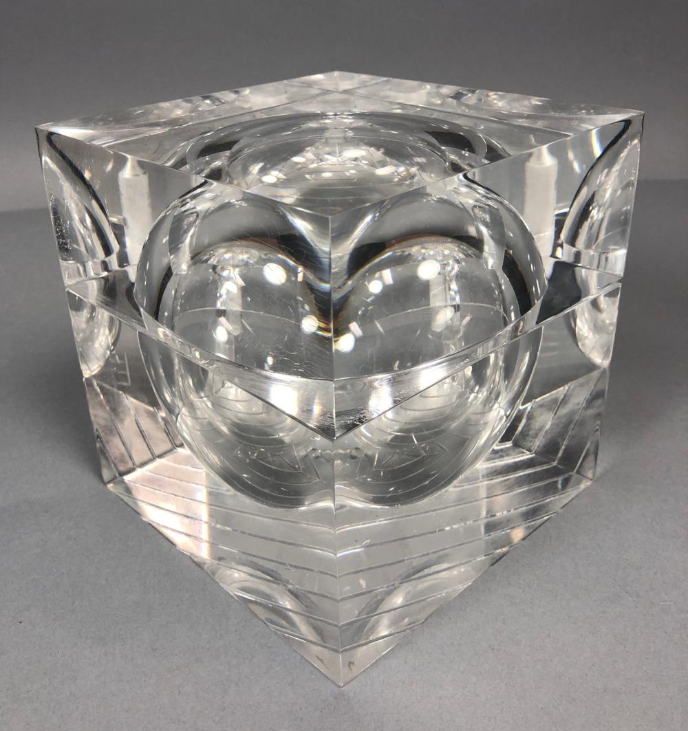 Sold Price Modernist Lucite Acrylic Ice Bucket Box With Rota December 2 0118 11 00 Am Est